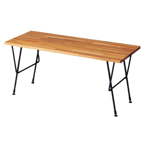 【まとめ買い10個セット品】 ナチュラルアイアン テーブル W120 ブラック 【メイチョー】