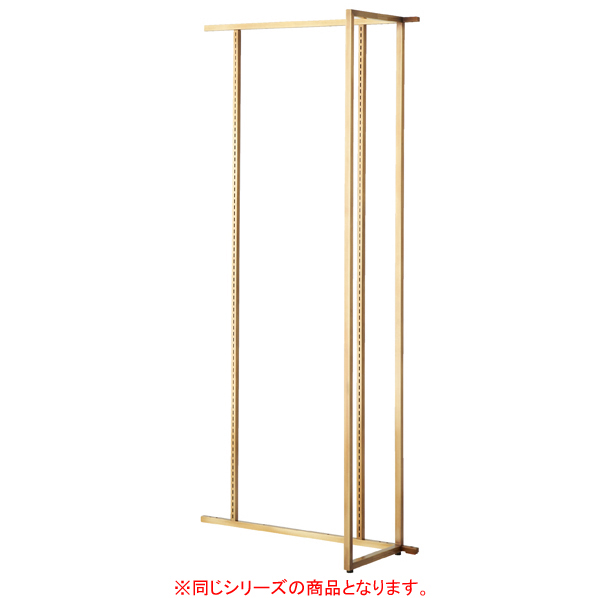 【まとめ買い10個セット品】 アンティークゴールド壁面W90cm 連結タイプ ホワイトパネル付き 【メイチョー】