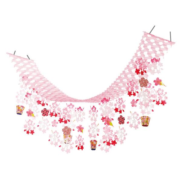 【まとめ買い10個セット品】 桜ぼんぼりプリーツハンガー1枚 【桜 サクラ さくら 春 飾り イベント 装飾】 【メイチョー】