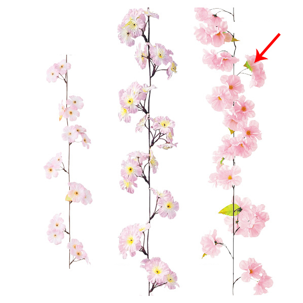 【まとめ買い10個セット品】 ガーランド ラージチェリー2本 【桜 サクラ さくら 春 飾り イベント 装飾】 【メイチョー】