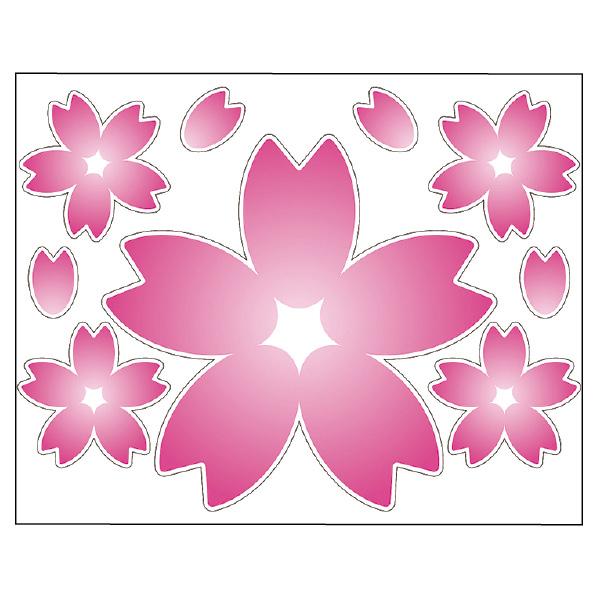 【まとめ買い10個セット品】 大型ウインドウシール 桜1セット 【桜 サクラ さくら 春 飾り イベント 装飾】 【メイチョー】