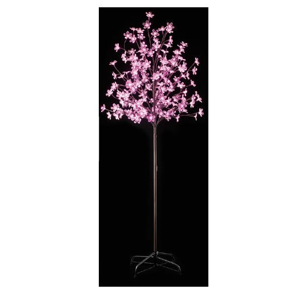【まとめ買い10個セット品】 LEDピンクフラワー立ち木ライト H180cm1台 【桜 サクラ さくら 春 飾り イルミネーション イベント 装飾】 【メイチョー】