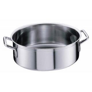 【 業務用 】【 平鍋 】 シットラムイノックス18-10平鍋 三重底[蓋無]40R 40cm