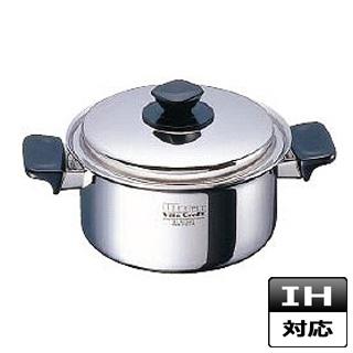 【 業務用 】両手鍋 ステンレス ビタクラフトウルトラ No.9506 25.5cm IH対応