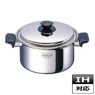 【 業務用 】両手鍋 ステンレス ビタクラフトウルトラ 深型 No.9204 21cm IH対応