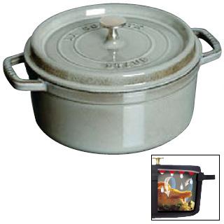 【 業務用 】ストウブ ピコ ココット 丸 18cm グレー 1101818 【 両手鍋 調理鍋 】【 調理器具厨房用品厨房機器プロ愛用名調 】