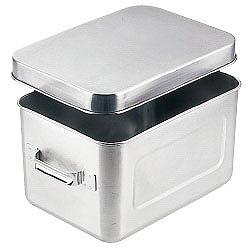 【 業務用 】【 調理バット 】 18-8ステンレス 保温保冷バット マイルドボックス サラダ用 7l[蓋付]004