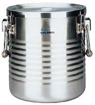 【 業務用 】【 コンテナ 】 18-8真空断熱容器[シャトルドラム] 手付 JIK-W18