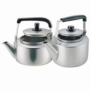 【 業務用 】アカオ アルマイト 茶漉し付大型ケットル[やかん]10L