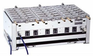 【 業務用 】鯛焼器 EGT-4 LPガス【 メーカー直送/代金引換決済不可 】