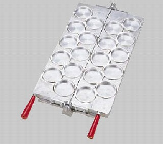 【 業務用 】焼饅頭機用板 半自動大判焼 φ74mm 【 メーカー直送/代金引換決済不可 】