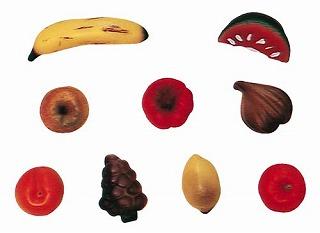 『デコレーション器具 お菓子作り』デコレリーフ シリコン シリコーンモルド 0300 ミックスフルーツ 8PCS【厨房館】