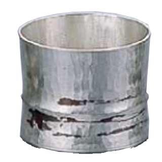 【 業務用 】銅錫被 刷毛目竹形1ツ節ぐい呑 平カット SG006 70cc
