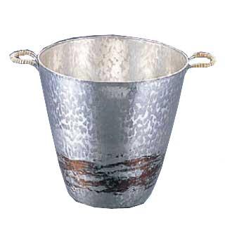 【 業務用 】銅錫被 刷毛目ワインクーラー SG001 【 業務用【 手作りの逸品 】