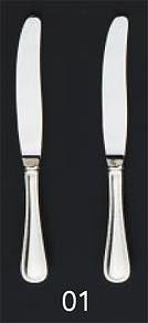 【まとめ買い10個セット品】【 業務用 】SA18-12リゾン銀仕様 デザートナイフ[刃無][カトラリー]