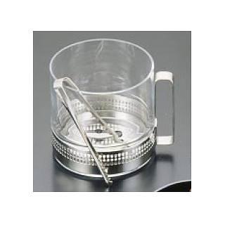 【まとめ買い10個セット品】ガラス製 アイスペール(トング付) 9028 (W) 【 アイスペール アイスバケット 】 【厨房館】