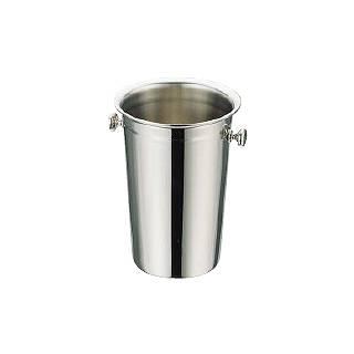 【 業務用 】【 シャンパンクーラー 】 UK18-8 ステンレスロングタイプワインクーラー