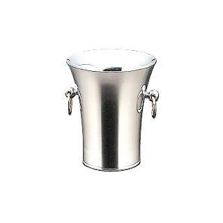 【 業務用 】【 シャンパンクーラー 】 トリオ18-8 ステンレス二重パーティークーラーA型 目皿・トング付