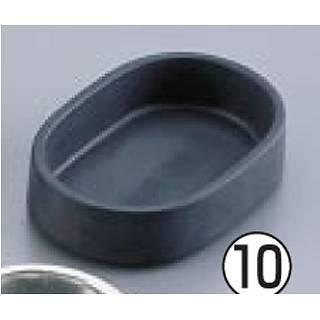 【まとめ買い10個セット品】アルミダイキャスト灰皿 AL1020M-2 小判型・黒【 灰皿 アッシュトレイ 】 【厨房館】