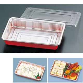 【まとめ買い10個セット品】『使い捨て容器』弁当容器 透明蓋付[100セット入] LC-8【厨房館】