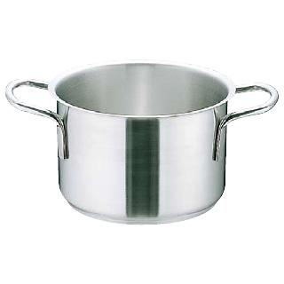 【 業務用 】ムラノ インダクション18-8ステンレス 半寸胴鍋 [蓋無]60cm 業務用