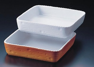 【 業務用 】ロイヤル 長角深型グラタン皿 カラー PC520-40-10