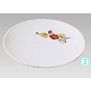 【まとめ買い10個セット品】【 業務用 】メラミン「元禄梅」 丸皿 [27cm] U-27【 メラミン 食器 メラミン食器 】