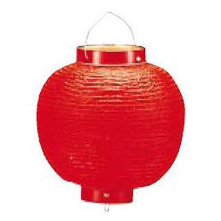 【まとめ買い10個セット品】ビニール提灯丸型 《9号》 赤ベタ b47 【厨房館】