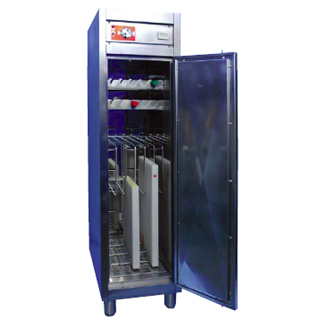 【 業務用 】熱風式スリム型庖丁まな板殺菌庫 HESD-680 【 メーカー直送/代金引換決済不可 】