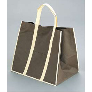 【まとめ買い10個セット品】ファインビュー 不織布バッグ(10枚入) 中 ブラウン 【厨房館】