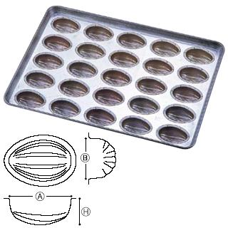 【 業務用 】シリコン シリコーン加工 アーモンドショコラ天板 25連