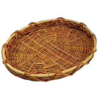 【まとめ買い10個セット品】『お菓子作り道具 パンカゴ 』籐 盛りかご MR-12-L[大] 【厨房館】