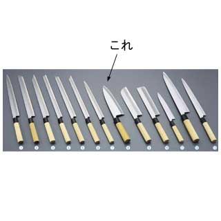 【 業務用 】堺實光 匠練銀三 出刃 片刃 24cm 37538