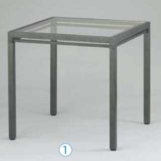 【 業務用 】【 キューブテーブル ハンマーシルバー AGC-CT600 】 【 メーカー直送/代金引換決済不可 】