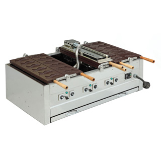 【 業務用 】電気式両面鯛焼器「回転式アルミ板」 EGDO-3「18ヶ取」
