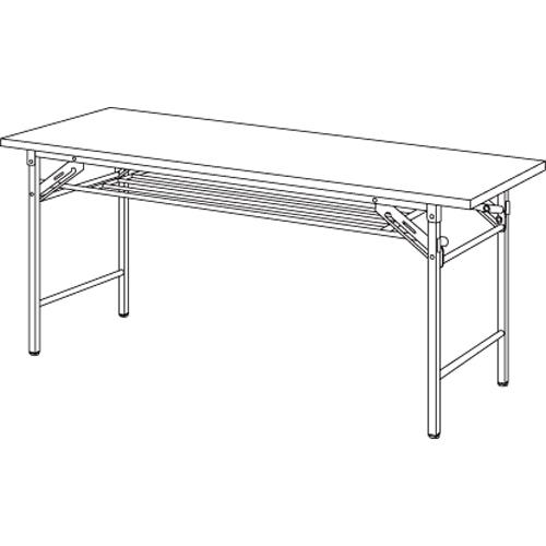 折り畳み会議テーブル YKT-1560SE(IV) アイボリー 【厨房館】