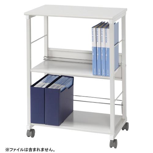 タテ・ヨコファイルワゴン スチール製 2段タイプ CR-DW4-W ホワイト 【厨房館】