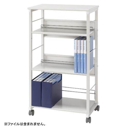 タテ・ヨコファイルワゴン スチール製 3段タイプ CR-DW5-W ホワイト 【厨房館】