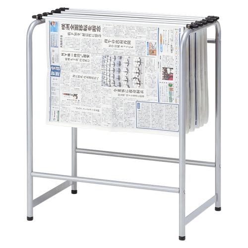 新聞架 スチール製 6本タイプ YS-N6 シルバー 【厨房館】