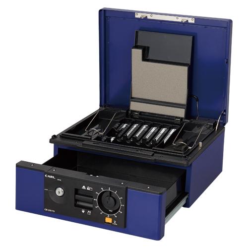 ドロワー式キャッシュボックス A4サイズ CB-D8770-B ブルー 【厨房館】