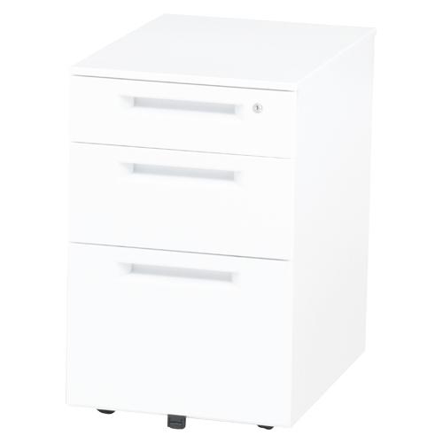 オフィスデスク インワゴン WJ-IN3(WH) ホワイト 【厨房館】