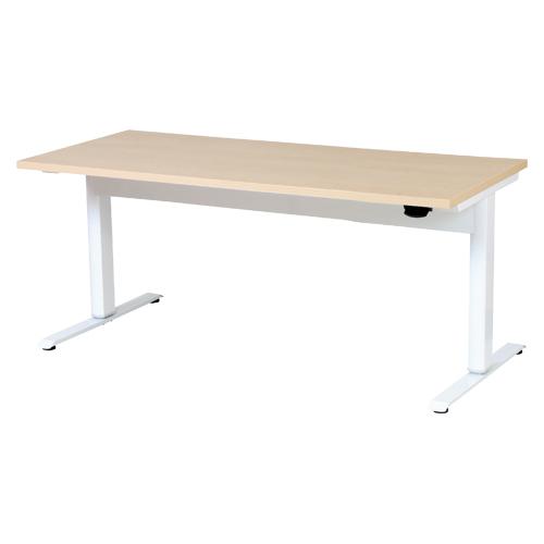 オフィスデスク(昇降タイプ) 昇降テーブル(幅1500mm) LTC-L1575(NA) ホワイト/ナチュラル 【厨房館】