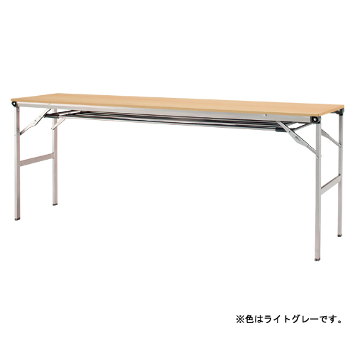 折りたたみテーブル 棚付き LOT-1845ET-GY ライトグレー 【厨房館】