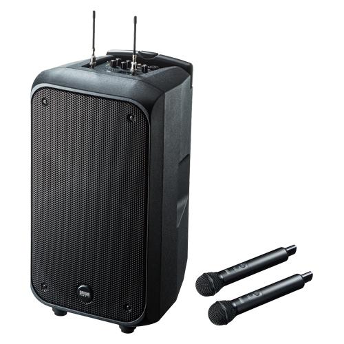 ワイヤレスマイク付き拡声器スピーカー MM-SPAMP8 【厨房館】