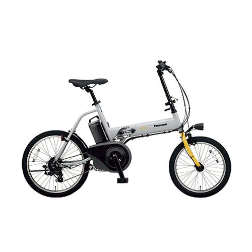 パナソニック 電動アシスト自転車 オフタイム BE-ELW073N グレー×イエロー 【厨房館】