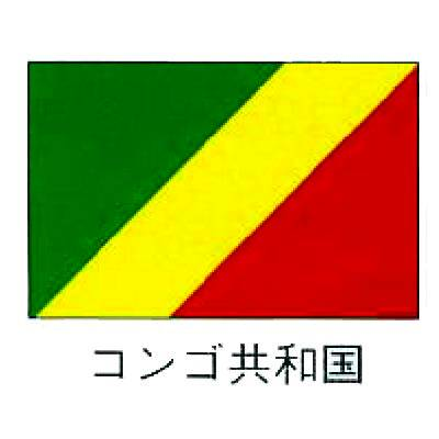 【 業務用 】旗 世界の国旗 コンゴ共和国 120×180