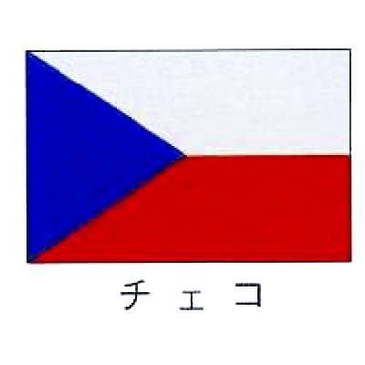 【 業務用 】旗 世界の国旗 チェコ 70×105