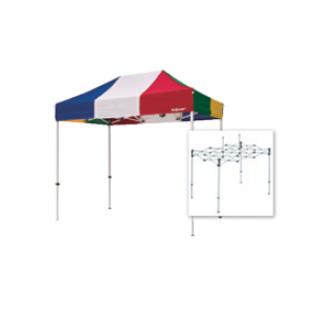 テント複合タイプ:支柱(スチール)・桁フレーム(アルミ)白粉体塗装 B 直送品 別発送品