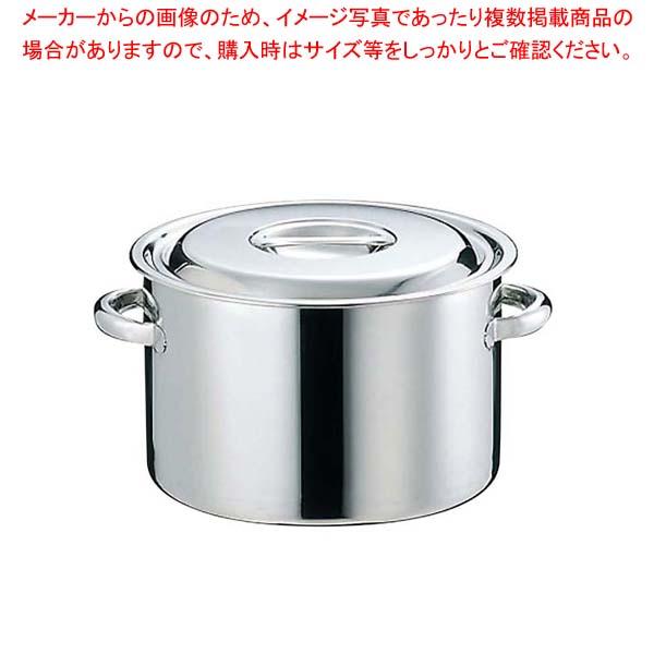 【まとめ買い10個セット品】 【 業務用 】【 即納 】 EBM 18-8 半寸胴鍋(目盛付)33cm 手付