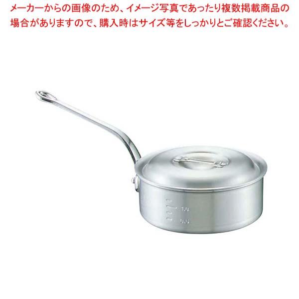 【まとめ買い10個セット品】キング アルミ 浅型 片手鍋(目盛付)24cm【 ガス専用鍋 】 【厨房館】